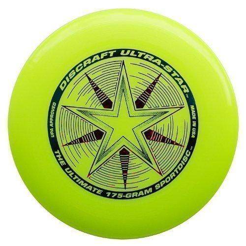 Unbekannt Discraft Ultra-Star 175g Ultimate Frisbee Starburst - gelb