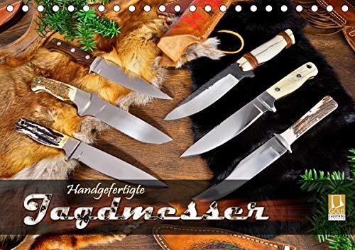Handgefertigte Jagdmesser (Tischkalender 2021 DIN A5 quer)