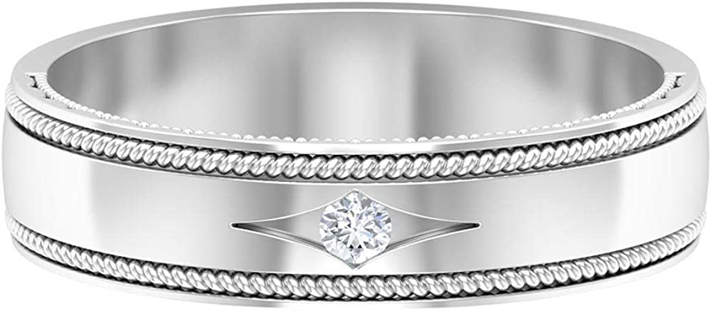 Vintage Wedding Band HI-SI Solitaire Diamond Match Free shipping New Recommendation Couple