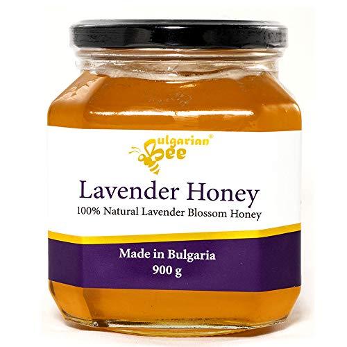 900 g Miel de flor de lavanda - Certificado sin antibióticos, sin azúcar, sin calentar, sin pasteurizar, crudo, miel real BulgarianBee®