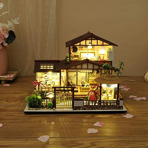 Eventualx Casa de muñecas en miniatura para bricolaje, casa de muñecas hecha a mano, para Navidad, cumpleaños, 11.059.138.39 cm