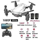 Lukame H16 2.4G 1080P Hd Cámara Wifi Altitude Hold Bolsillo Plegable Selfie Drone (Blanco,Blanca)