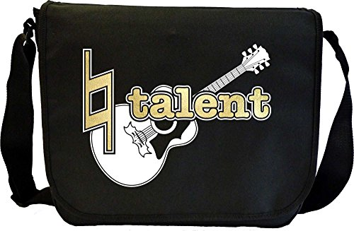 MusicaliTee Acoustic Guitar Natural Talent - Sheet Music Document Bag Musik Notentasche