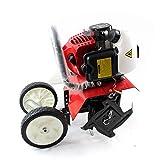 RDFlame - Fresadora de gasolina, 52 cc, 1,6 kW (2 PS) para jardinería cultivador, ancho de trabajo 30 cm, profundidad de trabajo 8 – 10 cm
