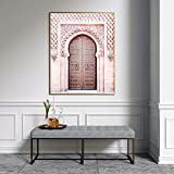 ganlanshu Sahara Desert Islamic Poster Canvas Mural Modern Fashion Living Room Mural,Pintura sin Marco,60X90cm
