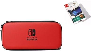Capa Case Estojo Para Nintendo Switch Console + Pelicula Vidro - Preta.