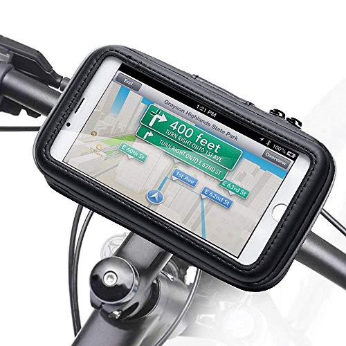 WERNG Universele telefoonhouder voor fiets en motorfiets, stuurhouder voor mobiele telefoon, waterdicht, 360 graden draaibaar