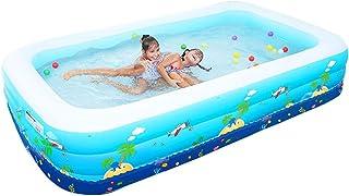Piscina inflable parque acuatico casero 150 x 100 x 60 cm (azul)