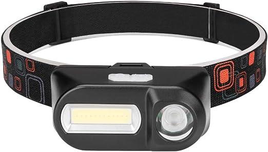 Linterna frontal LED recargable por USB, súper brillante, 180 ...