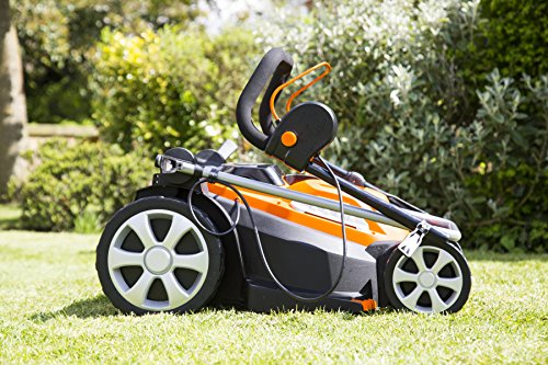 Yard Force 40V 37cm Cordless Lawnmower with 2.5AH Lithium-ion Battery & Quick Charger LM G37