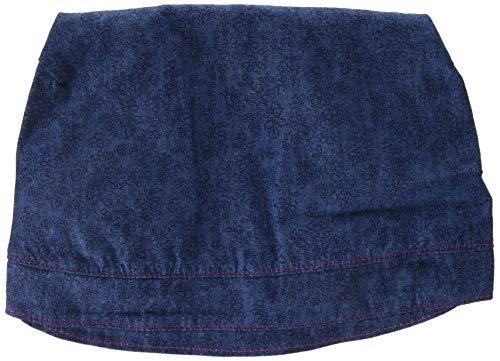maximo Mädchen Kopftuch mit Rüsche Mütze, Mehrfarbig (Jeans-Blumen 30), 51