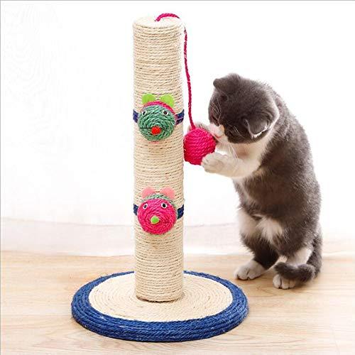 QAVILFLY Columna de rascado de gato,Cama de hamaca de árbol de gato,Fuerte torre de gato pequeño,Suave suave felpa, postes de rascado de sisal alta,Juguetes para gatitos