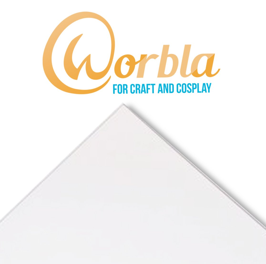 29x19 Inch Sheet Thermoplastic Material for Cosplay and Crafts Worbla BLACK Sheet Size M