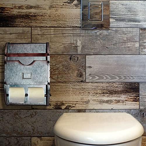 Industrial Nameplate Bathroom Caddy-Galvanized Metal (One Pa...
