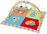 Fehn 091274 3-D-Activity-Decke Jungle Heroes / Spielbogen mit 5 abnehmbaren Spielzeugen für Babys Spiel & Spaß von Geburt an / Maße: 85x85 cm
