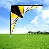Cometa para niños Cometa de acrobacias de doble línea de mano 1.4 m Operación de cuatro líneas La cometa de acrobacias aéreas es simple y fácil de volar, hermosa forma, cometa para principiantes,