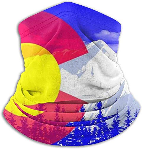 Lawenp Face Cover Bandana,Colorado Neck Gaiter,Washable Magic Scarf balaclava For Men And Women