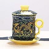AOARR Teetasse Mokka Tasse Keramikfilter Teetasse Kaffee Milch Teetasse Nachmittagstee Tassen...