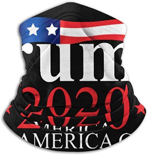HuNanHeChengZhenKeJiXinXiZiXunYouXianGongSi Trump 2020 Keep America Great Neck Gaiter Warmer Winddichter Gesichtsmaskenschal, Multifunktions-Kopfbedeckung aus Mikrofaser