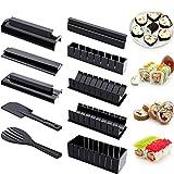 Kit de Hacer Sushi para Principiante 10 Herramienta de Plástico de Fabricar Sushi Completa con 8...