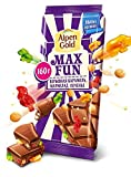 Milk chocolate effervescent Caramel + Marmalade + Cookies Alpen Gold Imported Russian Sweets Candy Food Grocery Gourmet Bars