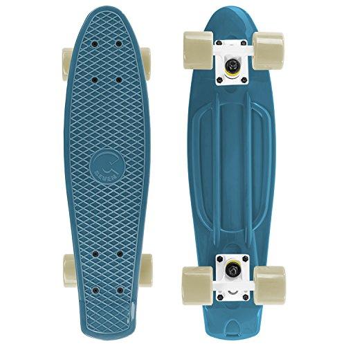 """#4. Cal 7 22.5"""" Complete Mini Cruiser Plastic Skateboard (Oceanic)"""