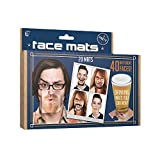 Paladone Face Mats Drinks Coasters | Cheeky Laugh Out Loud Fun Gift | 20 Double Sided Hilarious Drinking Mats You Can Wear | 40 Different Faces That Clip On To Your Nose