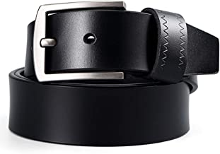 Men's Casual Leather Belt Belt Reverse For Two Colors. Casual (Color : Brown, Size : 120cm)