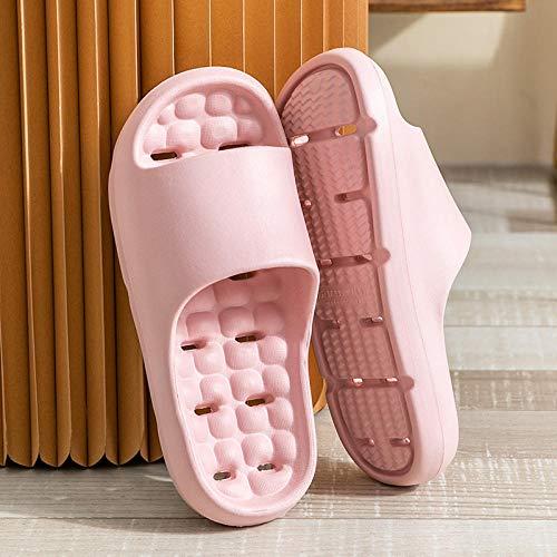 ZZLHHD Quick Drying Bathroom Slippers,Bathroom slippers, indoor home, light slippers,-powder_38-39,men's sandals
