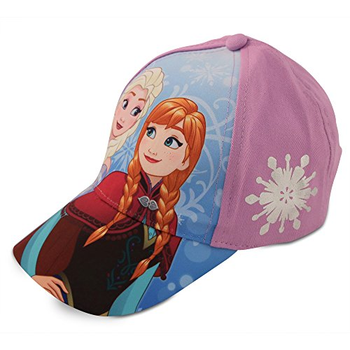 Disney Girls Frozen Elsa & Anna Cotton Baseball Cap (Toddler/Little Girls)