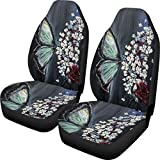 Car Seat Cover Butterfly Front Bucket Car Seat Protector for Universal Cars, Trucks, Vans, & SUV