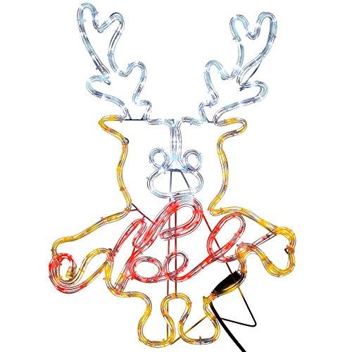 WeRChristmas - Lámpara LED para Ventana (61 cm), diseño de Silueta de Cuerda, Multicolor