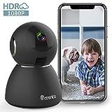 Ctronics Caméra de Surveillance 1080P Caméra WiFi sans Fil 25fps Caméra IP Dome Intérieur Vision Nocturne Détection de...
