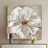 ZNYB Cuadros Modernos En Lienzo Flor Rosa 100% Arte de Pared Pintado a Mano Pintura al óleo Abstracta sobre Lienzo Cuadros Abstractos decoración Moderna del hogar