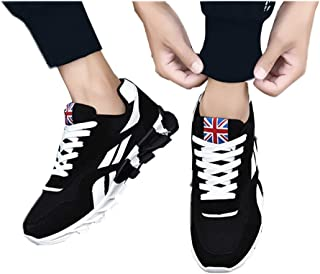 FidgetGear Men Casual Mesh Surface Sneakers British Flag Breathable Sports Shoes Outdoor Wear black 39