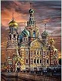 Kreuzstichset Für Erwachsene St. Petersburg Kirche 11CT 16x20inch DIY Sticken Stickset Für Anfänger Für Wohn- & Schlafzimmerdekoration Stickpackung