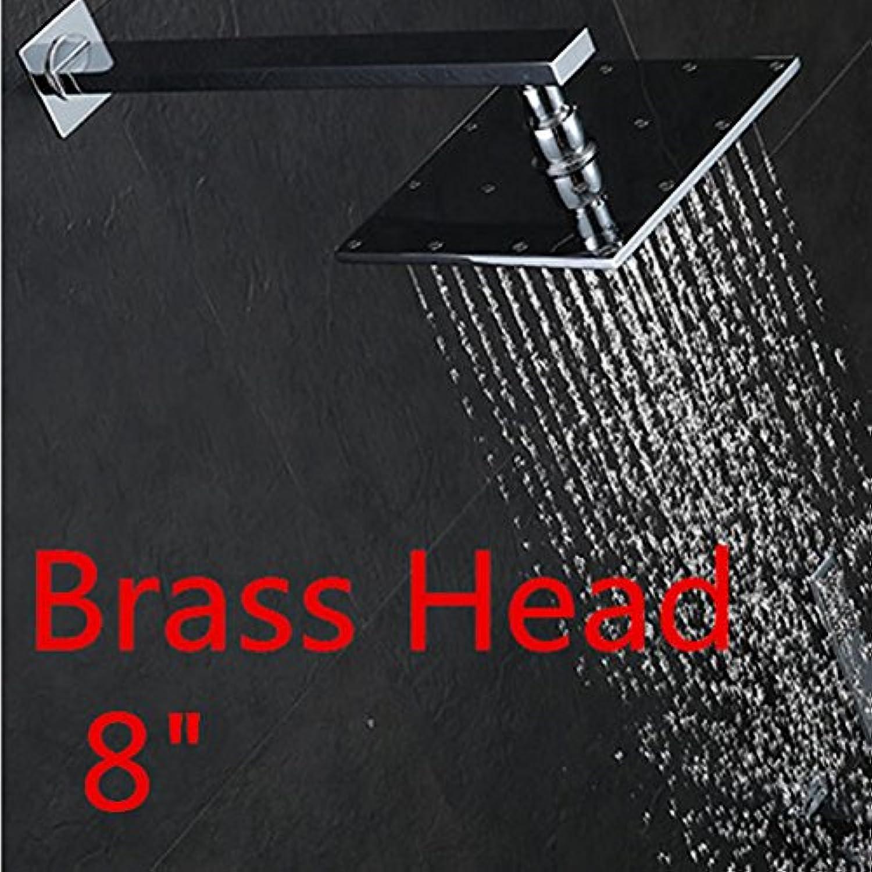 Luxurious shower An der Wand montierte Regendusche Wasserhahn Chrom Dusche Pannel Square Duschkopf Badezimmer Dusche eingestellt wurde, lschen