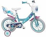 Denver Bike Frozen, 16' Niñas Ciudad 16' Acero Azul, Blanco bicicletta - Bicicleta (16', Vertical, Ciudad, 40,6 cm...