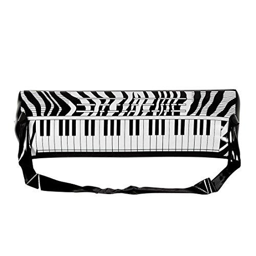 Amakando Gummi Klavier 80er Jahre Party E-Piano mit Gurt Rockstar Luft Piano Aufblasbares Keyboard Karneval Kostüm Accessoires Mottoparty Musikinstrument aufblasbar Luftpiano Instrument Band