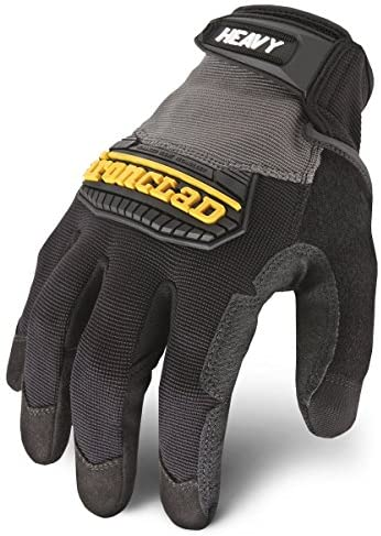 Ironclad Heavy Utility Work Gloves HUG, High Abrasion Resistance, Performance Fit, Durable, Machine Washable, Large