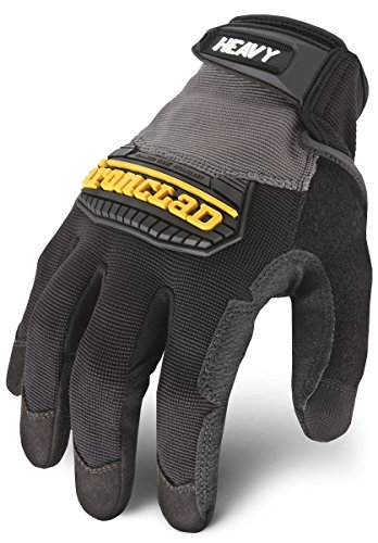 Ironclad Heavy Utility Work Gloves HUG, High Abrasion Resistance, Performance Fit, Durable, Machine Washable, 1 Pair, XL