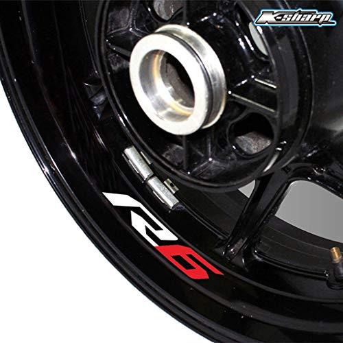 psler Adesivo riflettente per pneumatici per motociclette per Yamaha R6