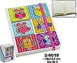 DONREGALOWEB - Display con 6 Cuadernos con elástico Decorados con...