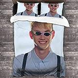 Yearinspace Corbyn Besson - Juego de cama de 3 piezas (86 x 70 pulgadas, súper suave, cálido, juego de cama Queen con 2 fundas de almohada)