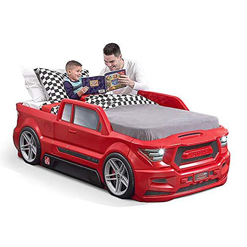 Red Turbocharged Twin Truck Kids Bed