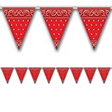Bandana Pennant Banner Party Accessory (Value 3-Pack)
