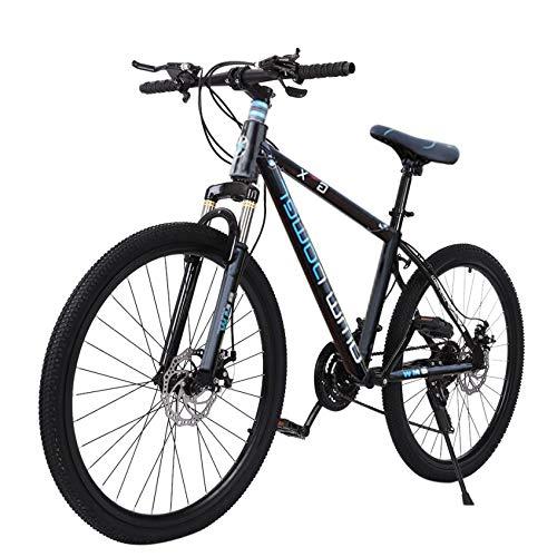 Blsolten Mens Mountain Bike, 21-Speed Full Suspension Mountain Bike, Aluminum Frame MTB Bicycle - 26 inch
