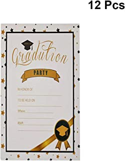 Amosfun 12pcs Graduation Party Invitation Cards Graduation Advice Cards Congrats Commencement Greeting Cards for High School College Graduation Party Supplies