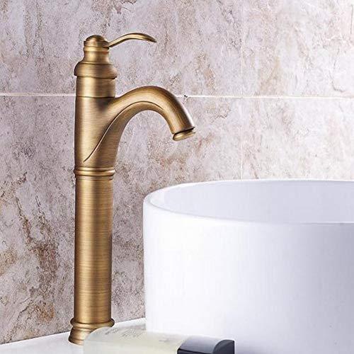 YHSGY Waschtischarmaturen Antike Messing Bad Waschbecken Wasserhahn Gefäß Waschbecken Wasserhahn Single Lever Vanity Basin Mixe Tap