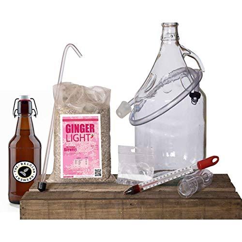 The Belgian Brewer – Kit de cerveza para casa, 5 L, diseño de gingibre Light – 15 botellas de 33 cl